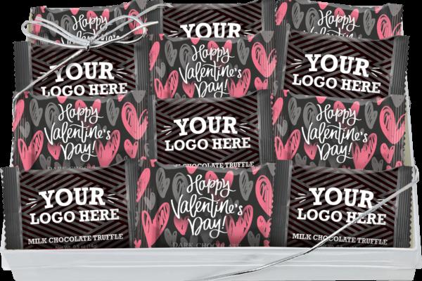 12pk Truffles Valentines YourLogoHere